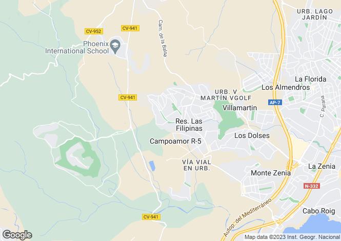 Map for Villamartin