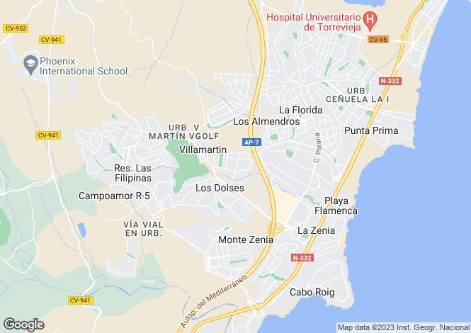 Map for Los Dolses, Alicante, Valencia
