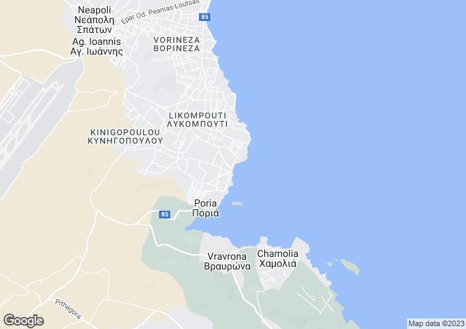 Map for Attica, Vravona