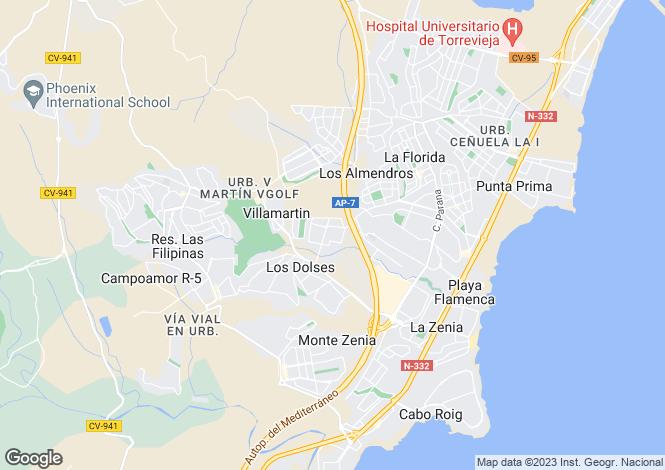 Map for Valencia, Alicante, Los Dolses