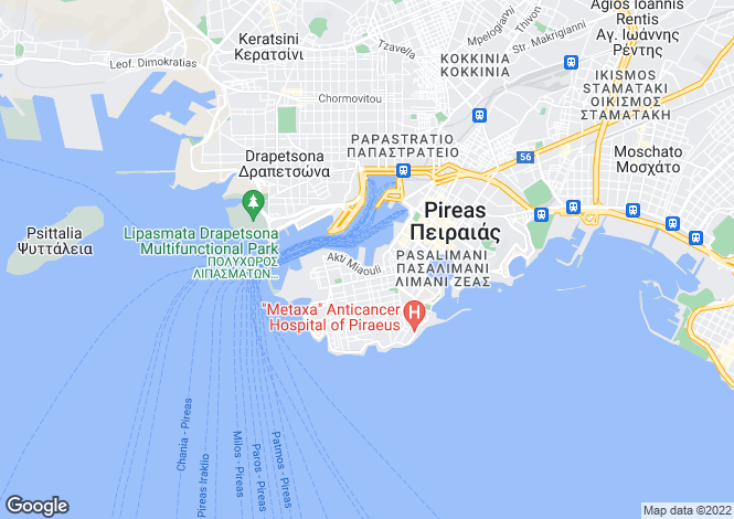 Map for Attica, Peiraias