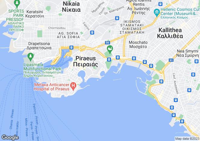 Map for Peiraias, Attica