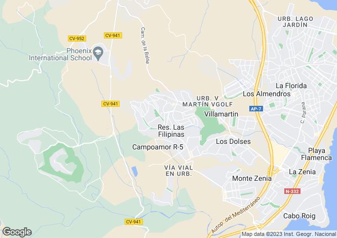 Map for Orihuela-Costa