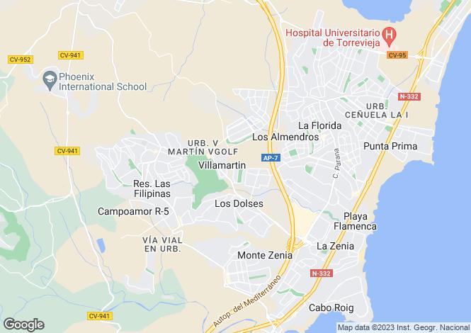 Map for Orihuela costa, Alicante