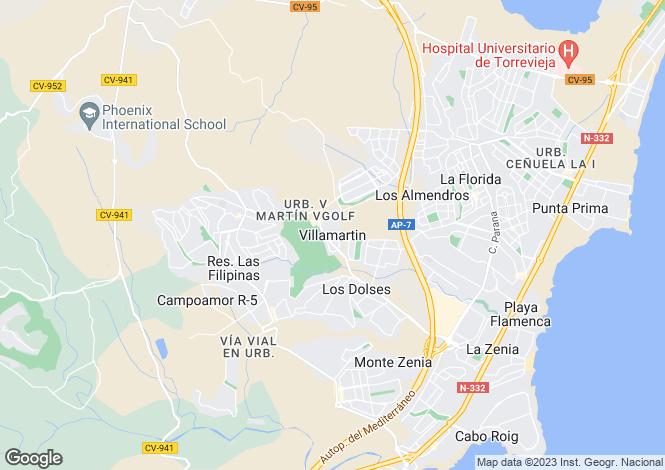 Map for Orihuela Costa, Orihuela Costa, Alicante, Spain