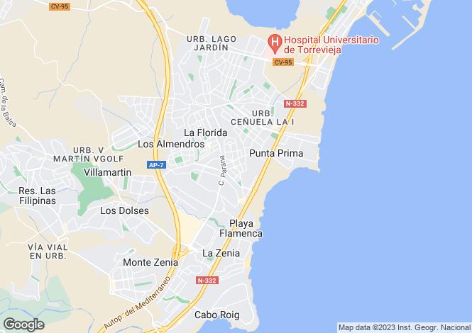 Map for Playa Flamenca