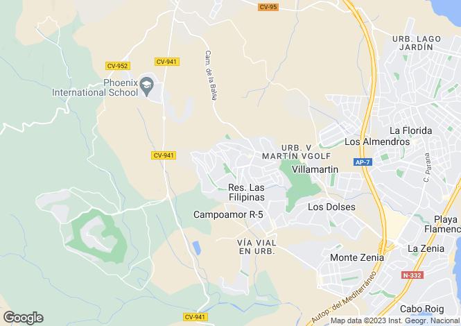Map for Valencia, Alicante, San Miguel de Salinas