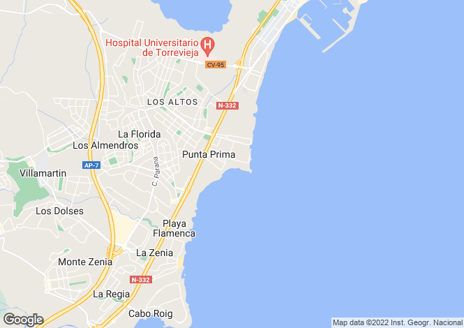 Map for Orihuela Costa, Orihuela, Alicante