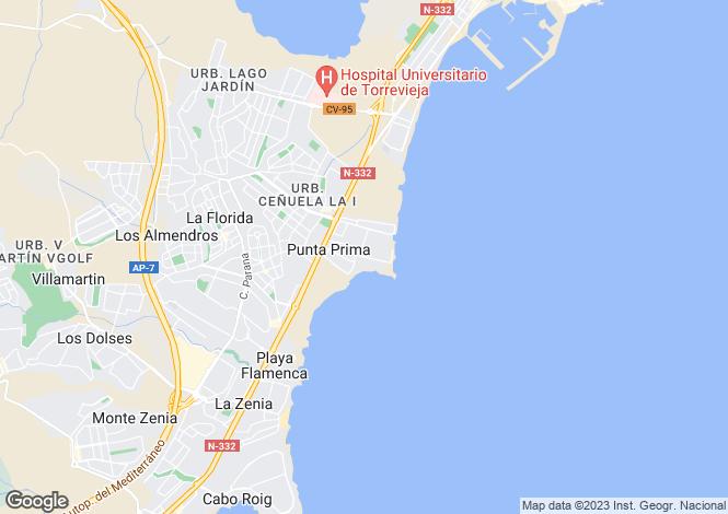Map for Urb. La Recoleta  blq. 1 - 2ºB, Punta Prima, Torrevieja