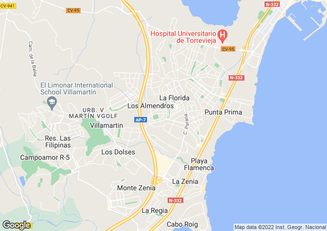 Map for Valencia, Alicante, Playa Flamenca