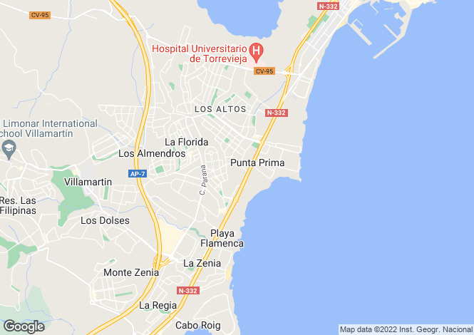Map for San Luis Villas, Playa Flamenca, Alicante, Spain