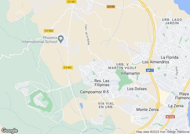 Map for San Miguel de Salinas, San Miguel de Salinas, Alicante