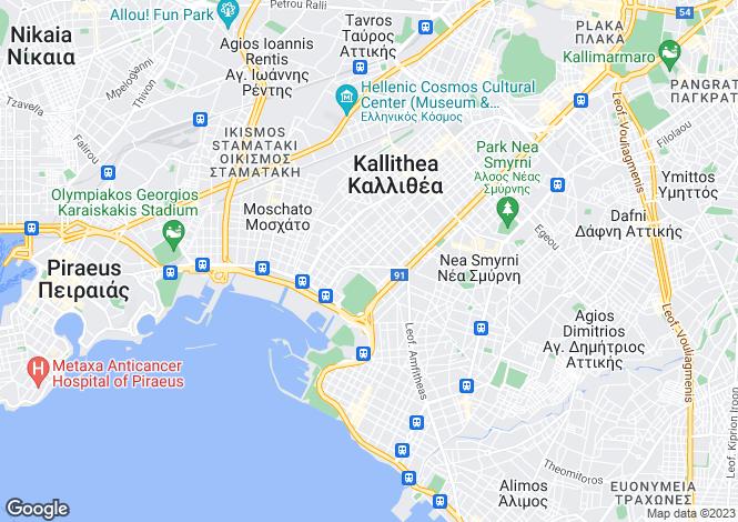 Map for Kallithea, Attica