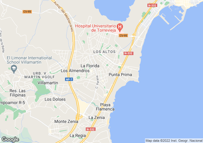 Map for Orihuela-Costa, Alicante, Valencia