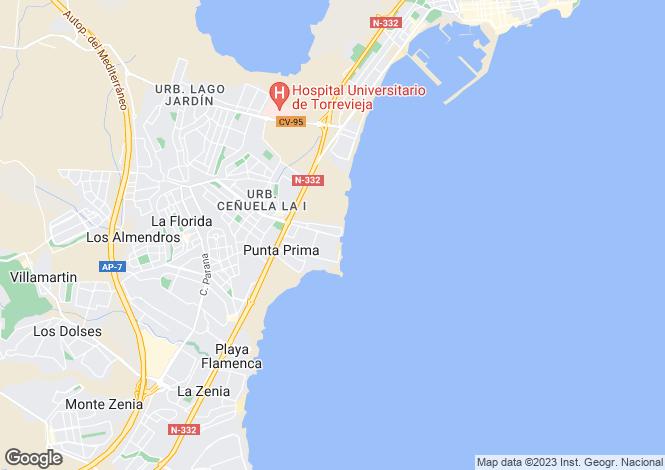 Map for Valencia, Alicante, Punta Prima
