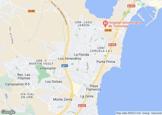 Map for Valencia, Alicante, La Florida