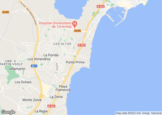 Map for Punta Prima, Alicante (Costa Blanca)