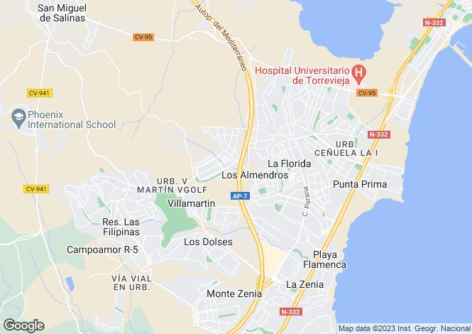 Map for La Zenia, Alicante, Spain