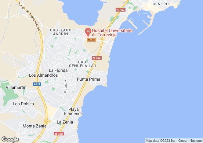 Map for Rocio del Mar, Torrevieja, Alicante