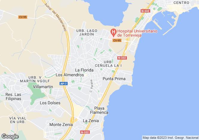 Map for La Florida, Alicante, Valencia