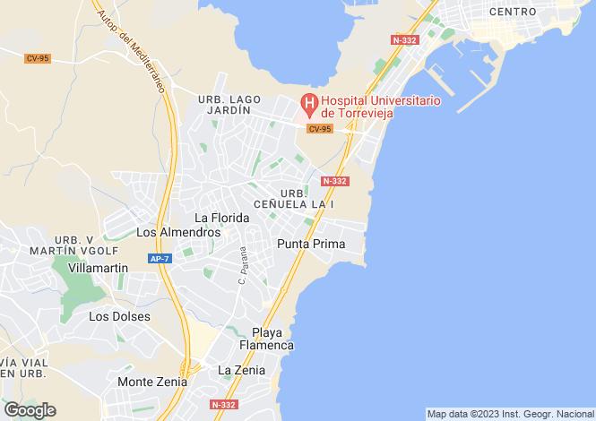 Map for Punta Prima, Alicante, Spain