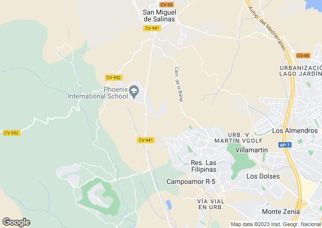 Map for C/ Lo Aguirre  2. Urb. El Mirador de San Miguel. Residencial Salinas II. Planta baja Modelo Eneldo B Nº 724, San Miguel