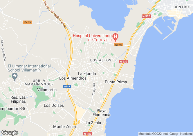 Map for Los Altos, Alicante, Valencia