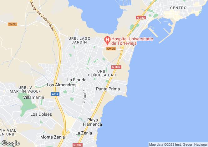 Map for Torrevieja, Torrevieja, Alicante