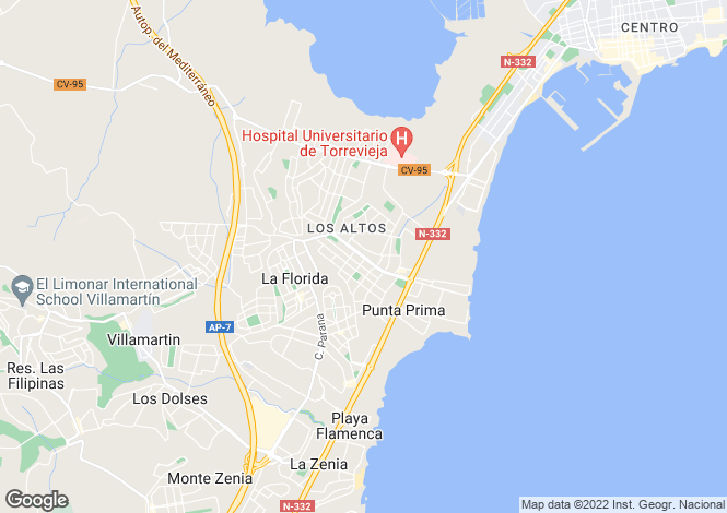Map for Orihuela Costa, Alicante, Spain