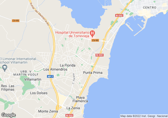 Map for Punta Prima, Alicante, Spain