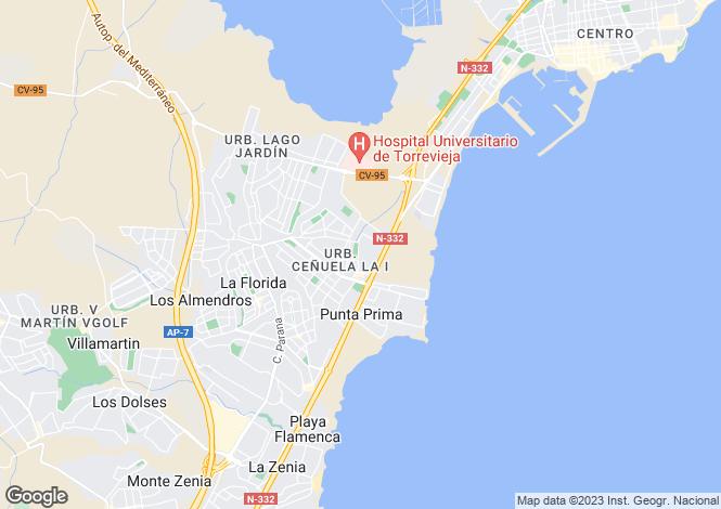 Map for Rocajuna, Torrevieja, Alicante