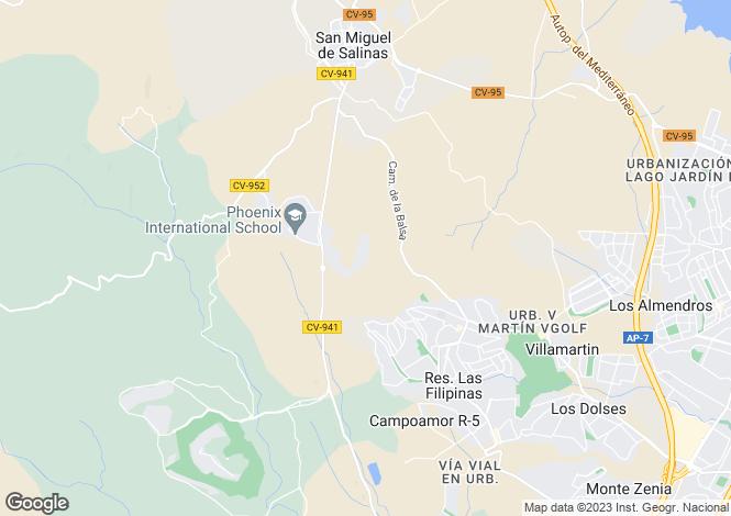 Map for San Miguel de Salinas, Alicante, Valencia