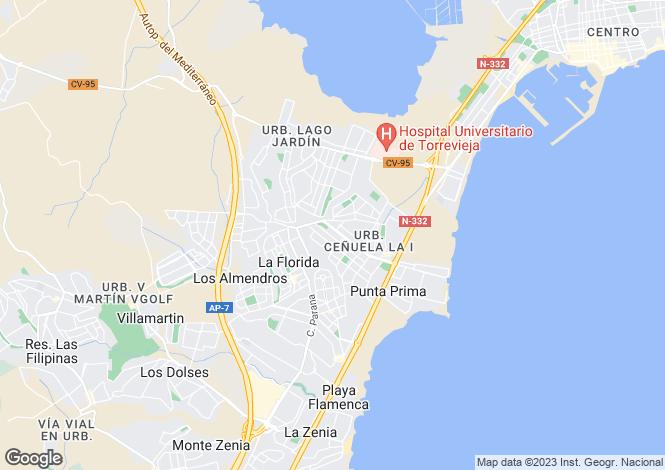 Map for Punta Prima, Alicante, Valencia