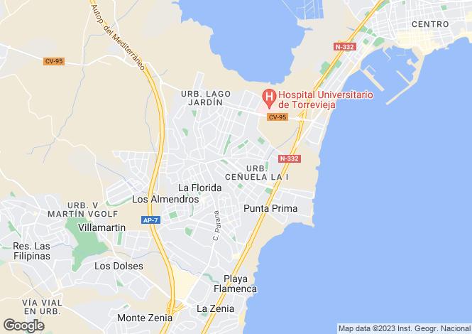 Map for Los Altos, Torrevieja, Alicante, Spain