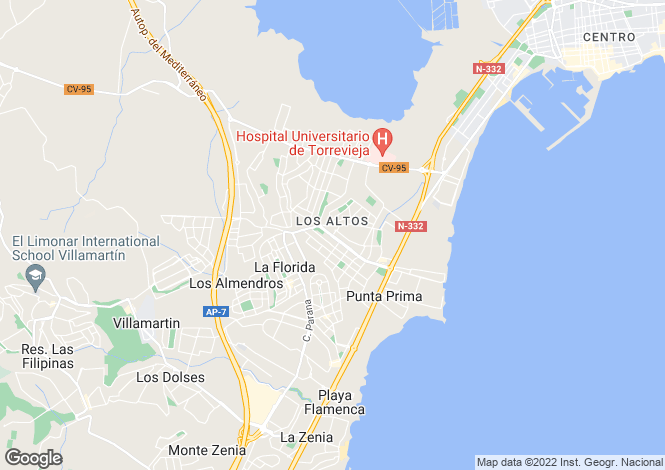 Map for Torrevieja, Torrevieja, Alicante