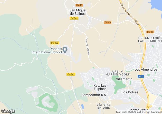 Map for C/ La Casa Grande  69. Residencial Costa Flamencos Nº4, San Miguel de Salinas, San Miguel de Salinas