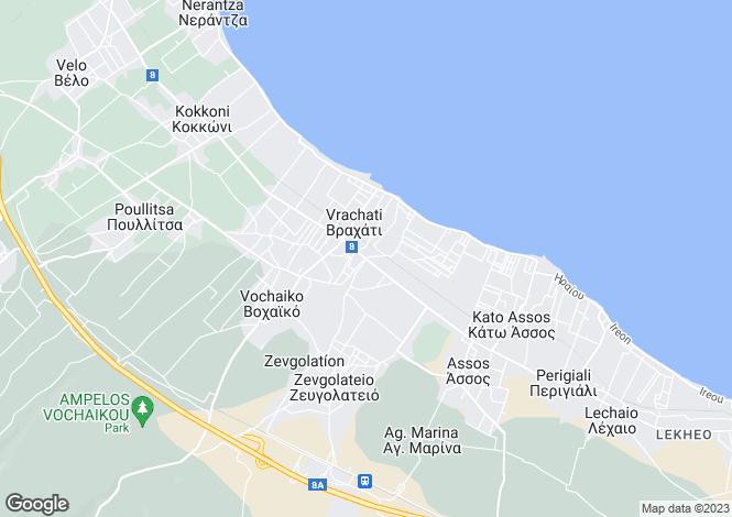 Map for Peloponnese, Corinthia, Vrachati