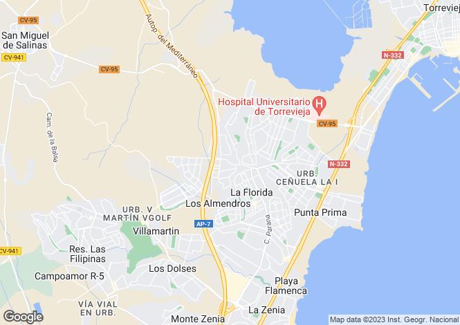 Map for Orihuela Costa, Orihuela, Alicante