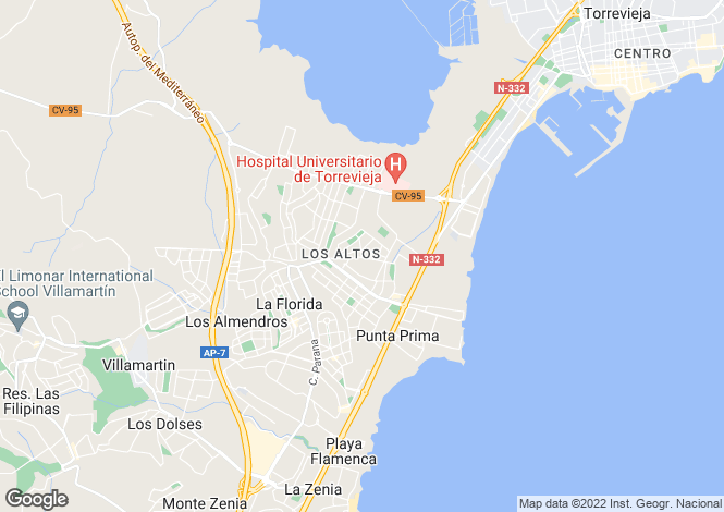 Map for Spain, Valencia, Alicante, Los Altos