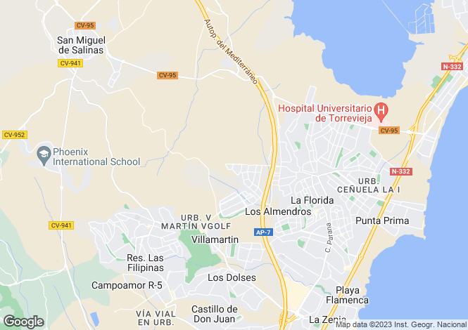 Map for C/ Millo esquina con C/ Ulloa. Residencial Marina III fase II. Nº24, Orihuela Costa, Orihuela