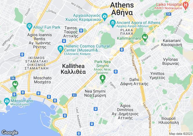 Map for Attica, Kallithea