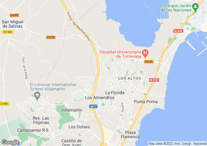 Map for Dream Hills, Alicante, Valencia