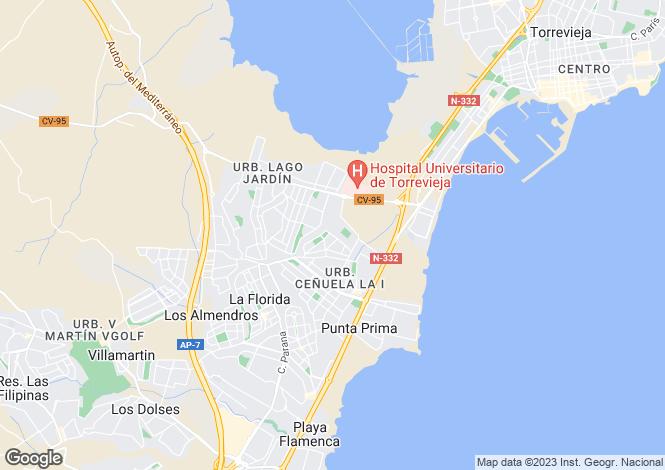 Map for Valencia, Alicante, Los Altos