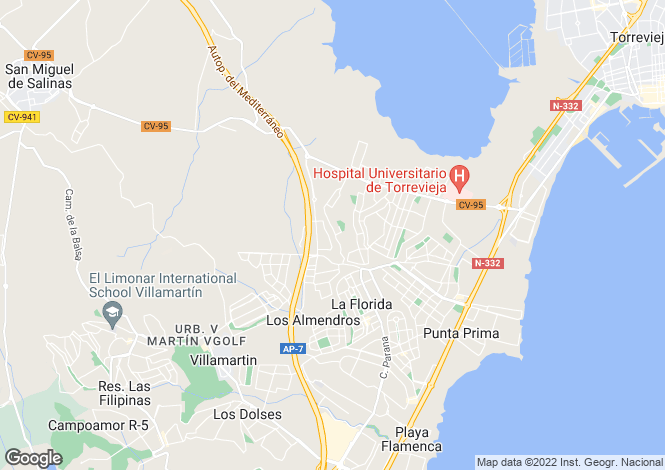 Map for Los Altos, Alicante, Valencia
