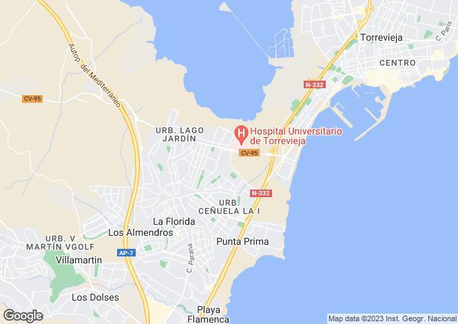 Map for Los Altos, Alicante, Spain