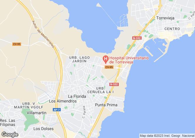 Map for Los Balcones, Torrevieja, Alicante, Spain