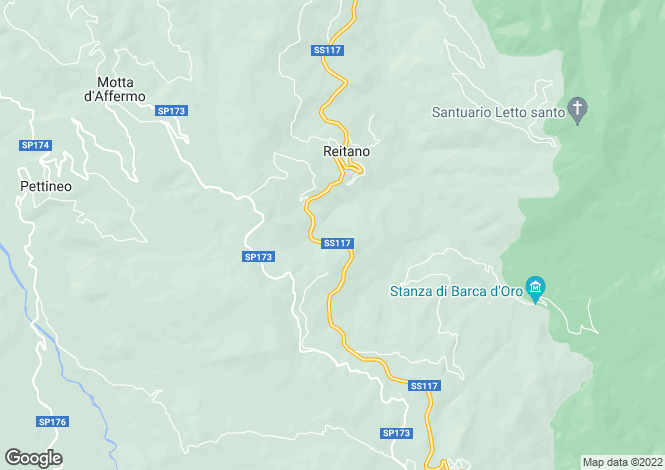 Map for Reitano, Messina, Sicily