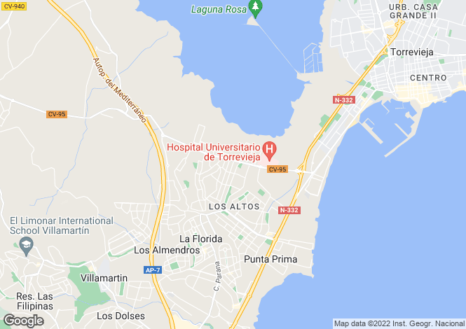 Map for Los Balcones, Alicante, Spain