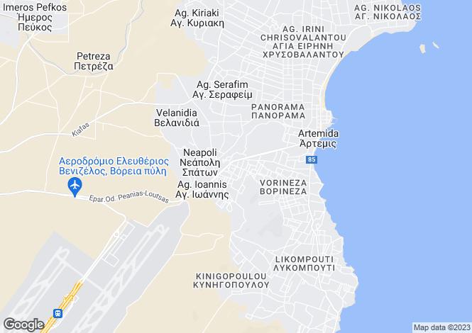 Map for Attica, Artemida