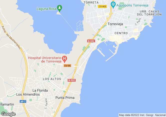 Map for La Veleta, Torrevieja, Alicante, Spain